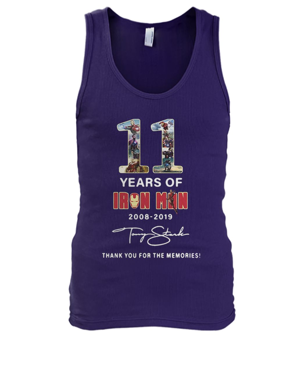 Marvel 11 years of Iron Man 2008 2019 thank you for the memories men's tank top