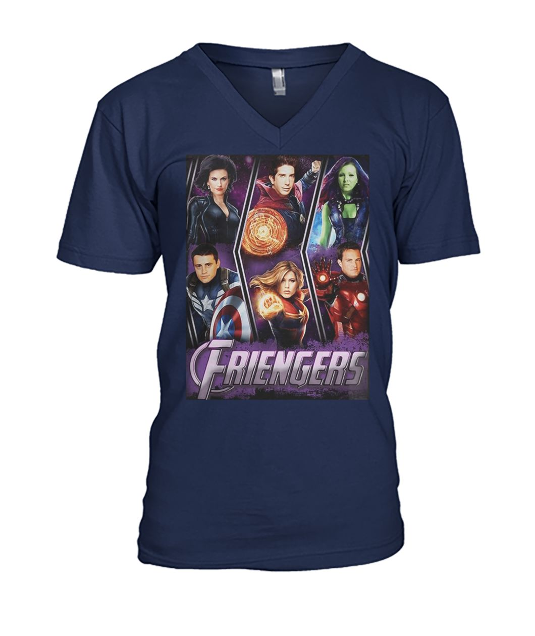 Marvel avengers endgame friengers friend mens v-neck