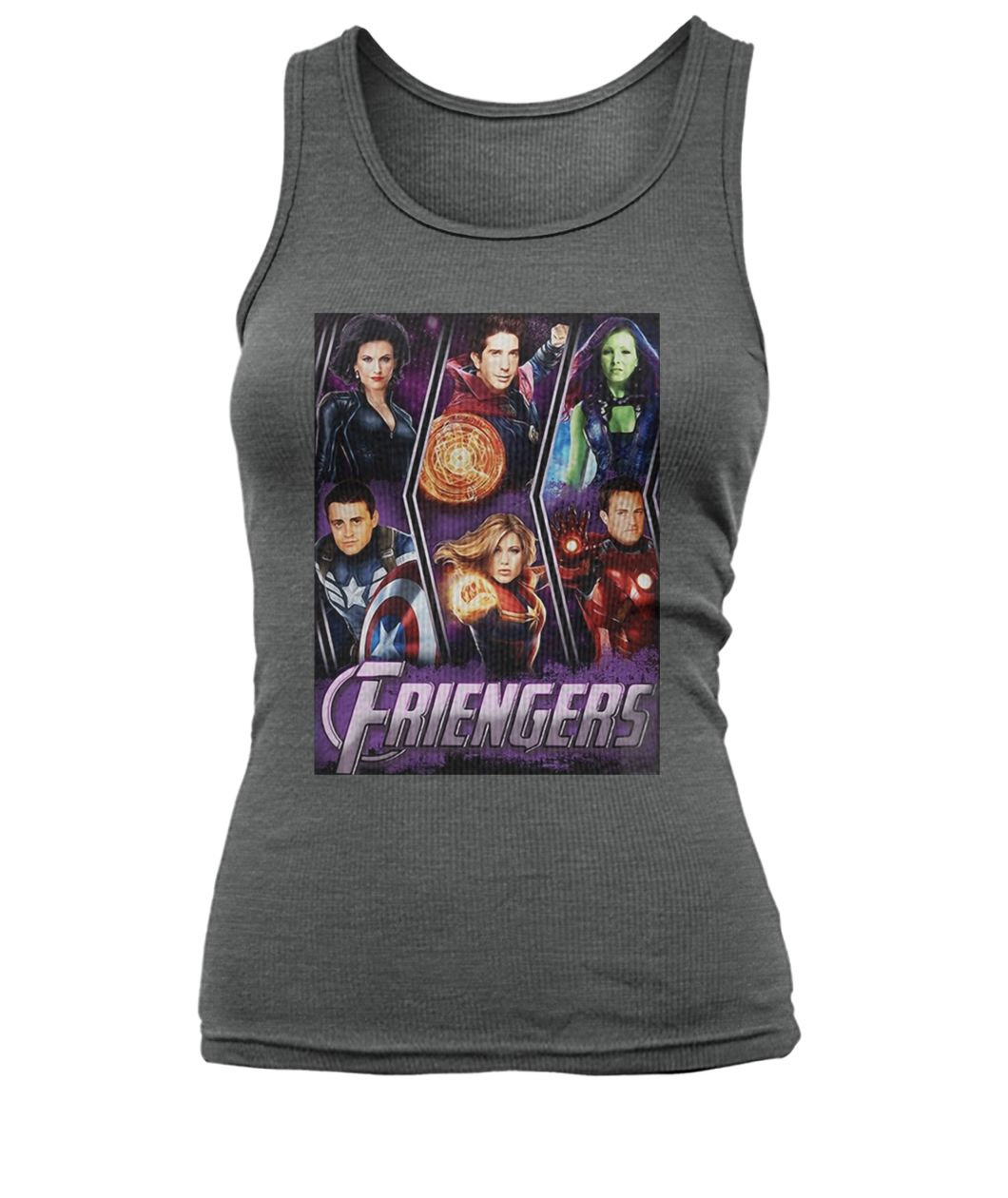 Marvel avengers endgame friengers friend women's tank top