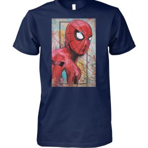 Marvel spider-man far from home poster unisex cotton tee