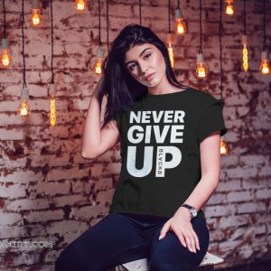 Mohamed never give up salah-victory soccer winning shirt