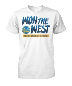 NBA golden states warriors won the west unisex cotton tee