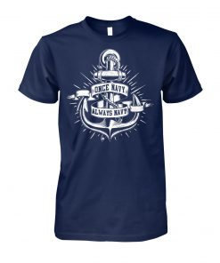 Once navy always navy unisex cotton tee
