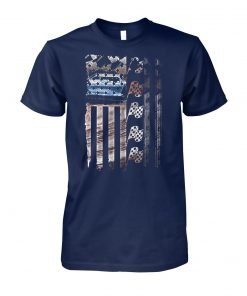 Racing american flag unisex cotton tee