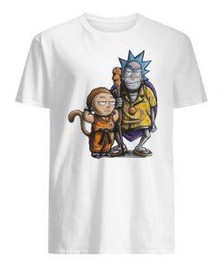 Rick and songoku morty and kame guy shirt