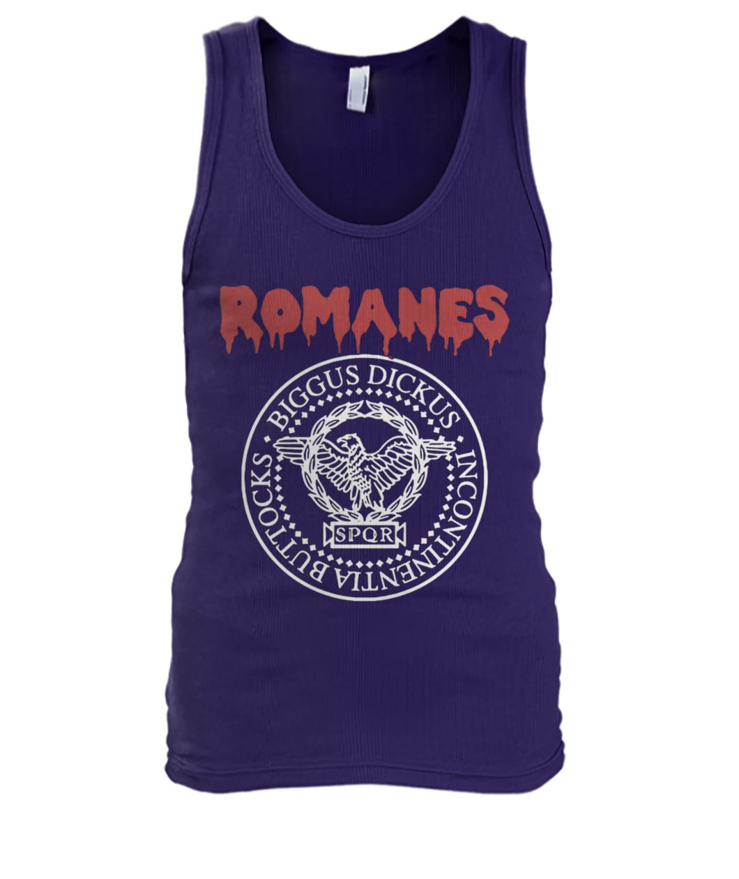 Romanes biggus dickus incontinentia buttocks SPQR men's tank top