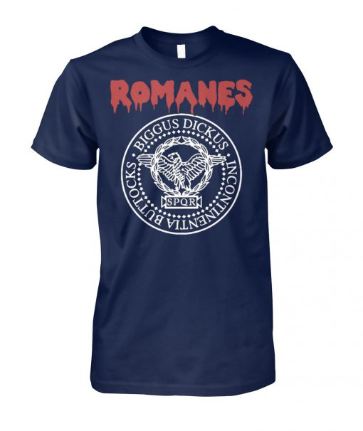 Romanes biggus dickus incontinentia buttocks SPQR unisex cotton tee