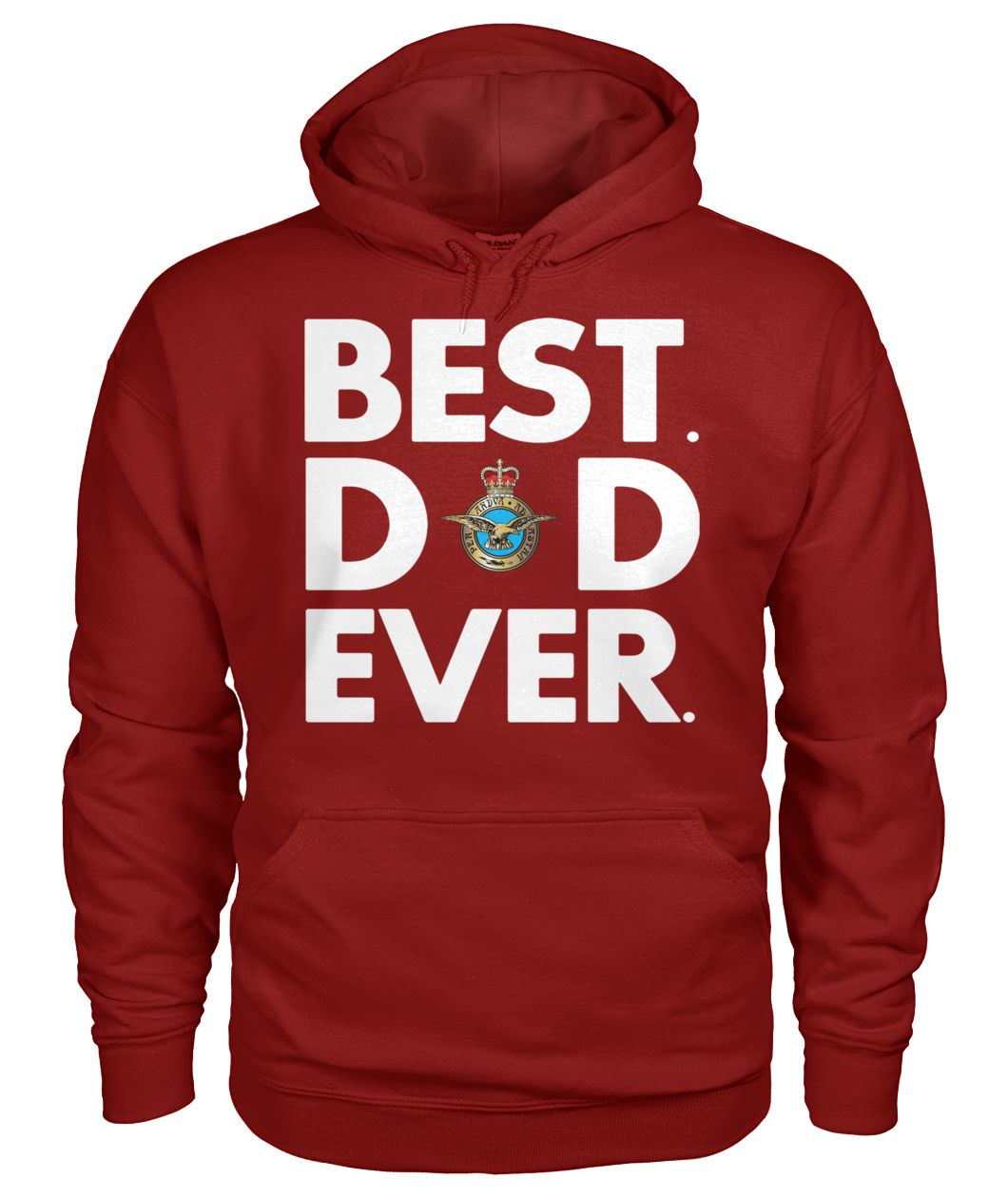 Royal air force best dad ever gildan hoodie
