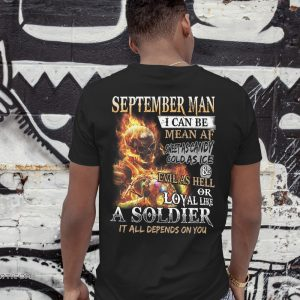 September man I can be mean af sweet as candy gold as ice and evil as hell shirt