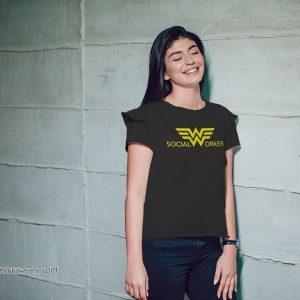 Social worker wonder woman shirt
