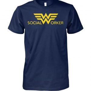 Social worker wonder woman unisex cotton tee