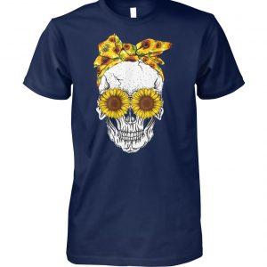 Sunflower skull unisex cotton tee