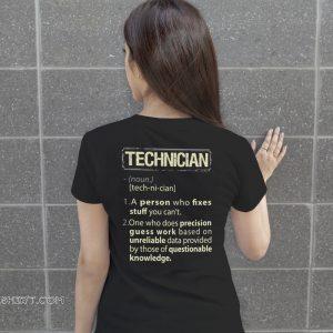 Technician definition shirt