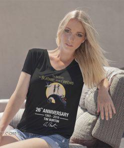 Tim burton's the nightmare before christmas 26th anniversary 1993 2019 signature shirt
