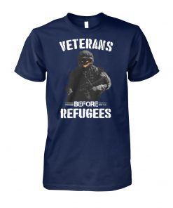 Veterans before refugees unisex cotton tee