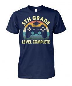 Vintage 5th grade level complete video gamer graduation unisex cotton tee