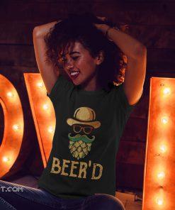 Vintage beer'd beer beard shirt