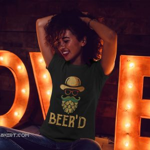 Vintage beer'd beer beard shirt
