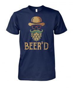 Vintage beer'd beer beard unisex cotton tee