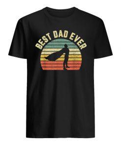 Vintage best dad ever superhero guy shirt