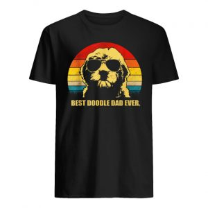 Vintage best doodle dad ever guy shirt