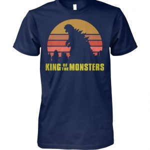 Vintage godzilla king of the monsters unisex cotton tee