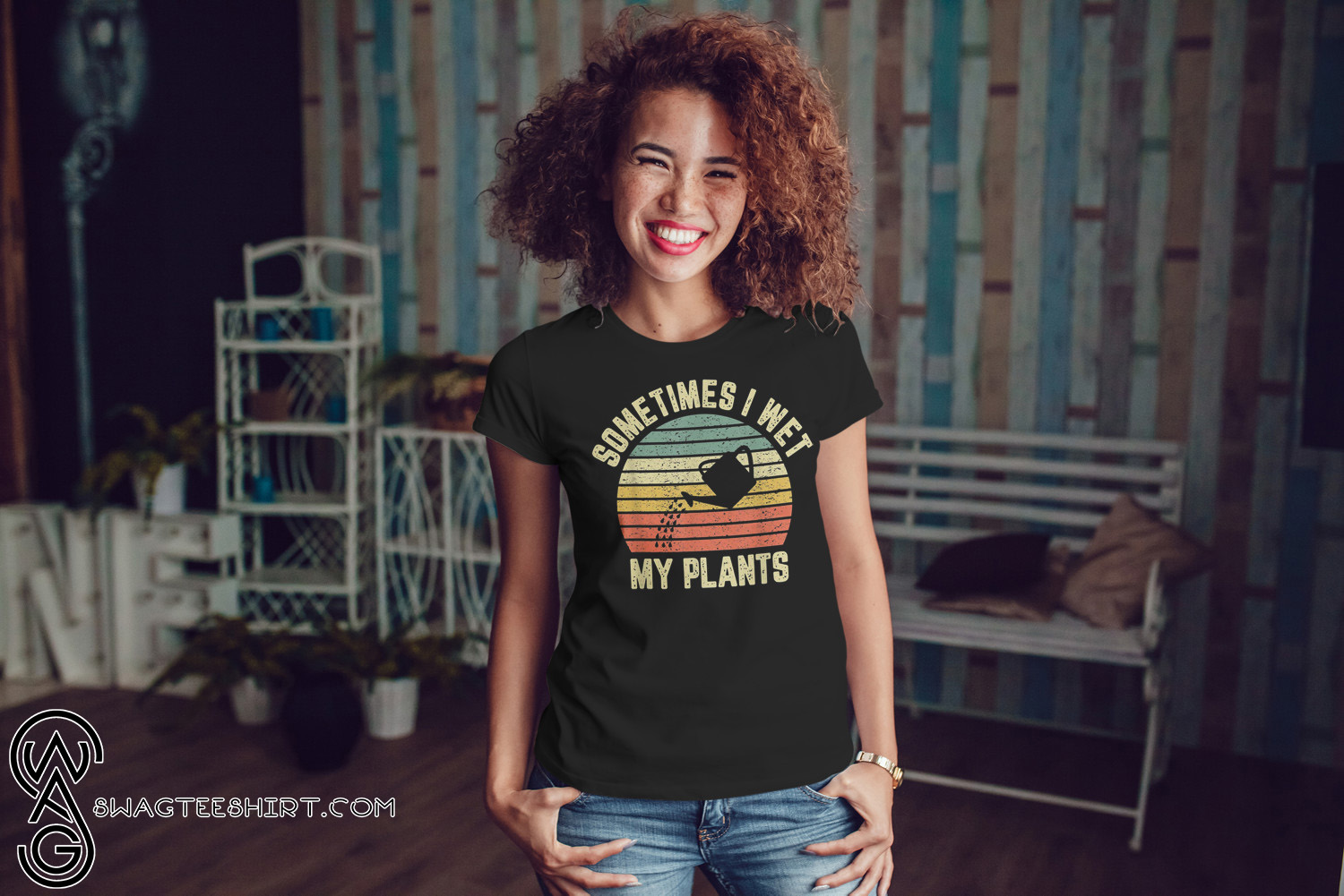 4a5e6242 Vintage sometimes I wet my plants shirt and men's tank top