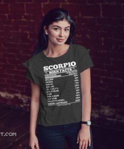 Zodiac signs birthday scorpio born facts shirt