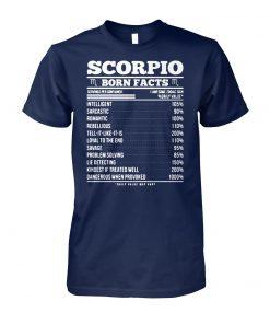 Zodiac signs birthday scorpio born facts unisex cotton tee