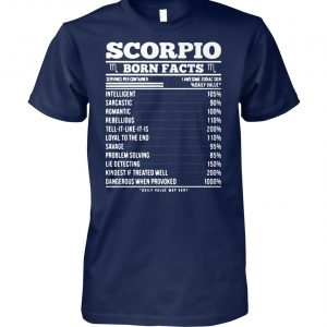 Zodiac signs birthday scorpio born facts unisex cotton tee