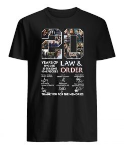 20 years of law and order 1990 2010 20 seasons 456 episodes signatures guy shirt