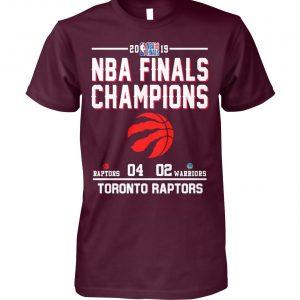 2019 NBA finals champions toronto raptors win warriors unisex cotton tee