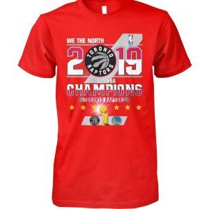 2019 toronto raptors nba finals champions unisex cotton tee