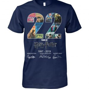 22 year of harry potter 1997 2019 signatures unisex cotton tee