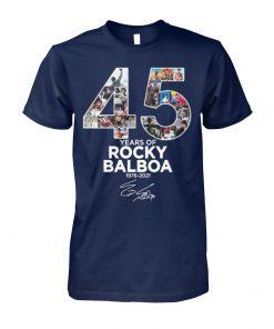 45 years of Rocky Balboa 1976-2021 signature unisex cotton tee