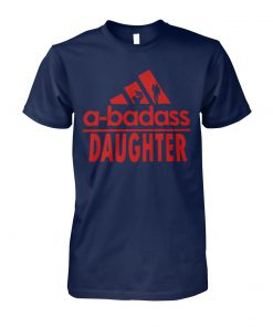 A-badass daughter adidas unisex cotton tee