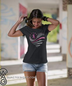American flag breast cancer awareness shirt