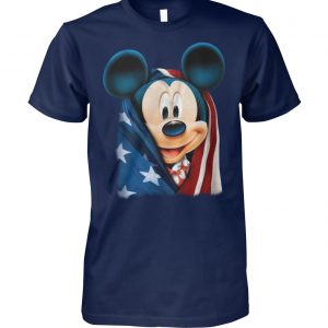 American flag mickey mouse 4th of july unisex cotton tee