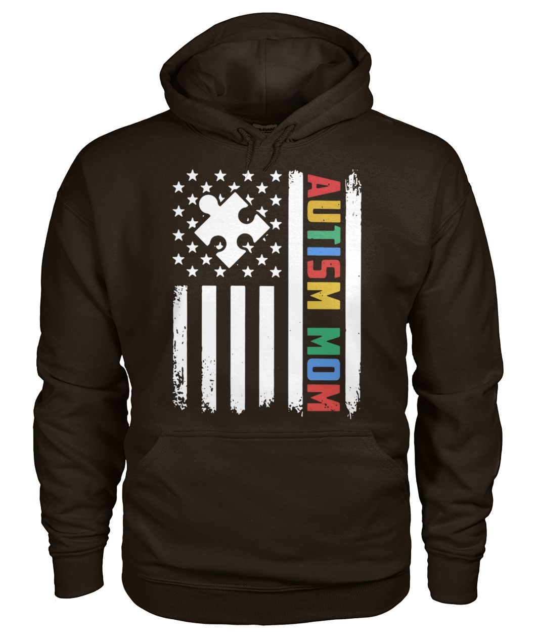 Autism mom america flag independence day gildan hoodie