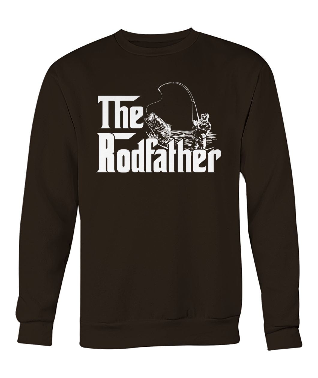 Boat fish rod the rodfather fishing crew neck sweatshirt