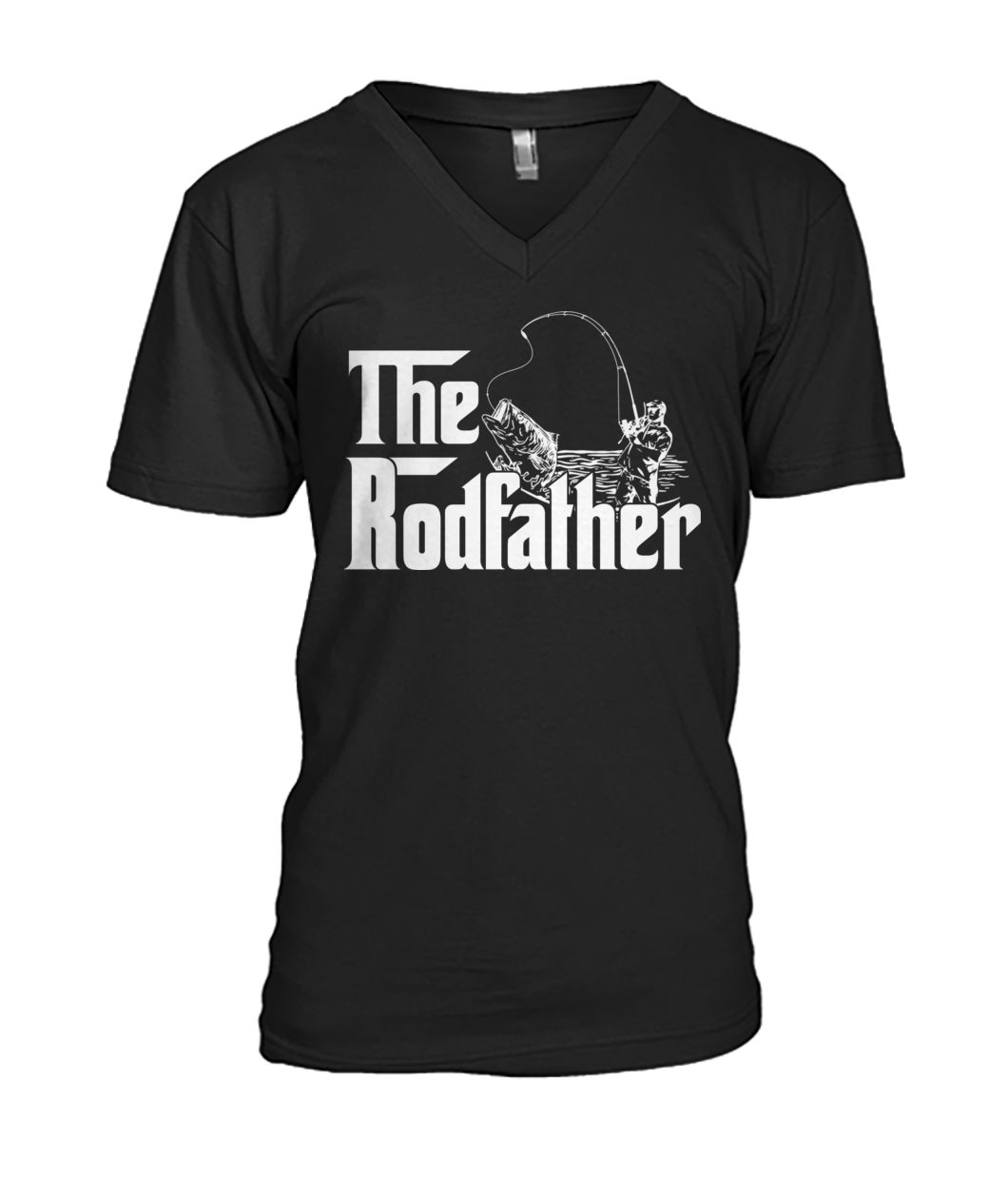 Boat fish rod the rodfather fishing mens v-neck