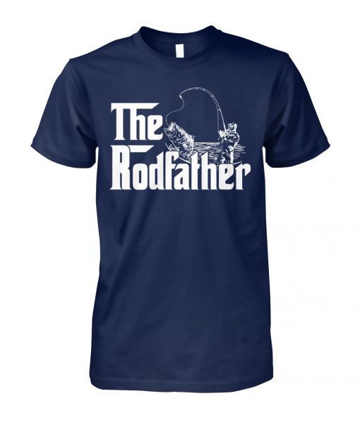 Boat fish rod the rodfather fishing unisex cotton tee