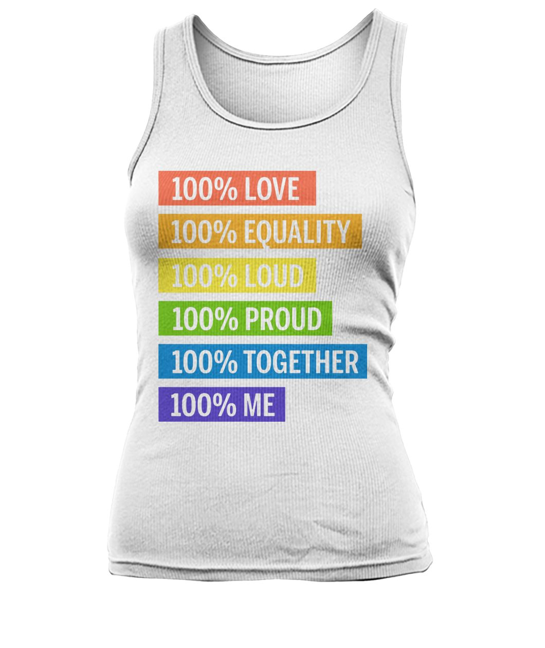 Brendon urie 100& love 100% equality 100% proud women's tank top