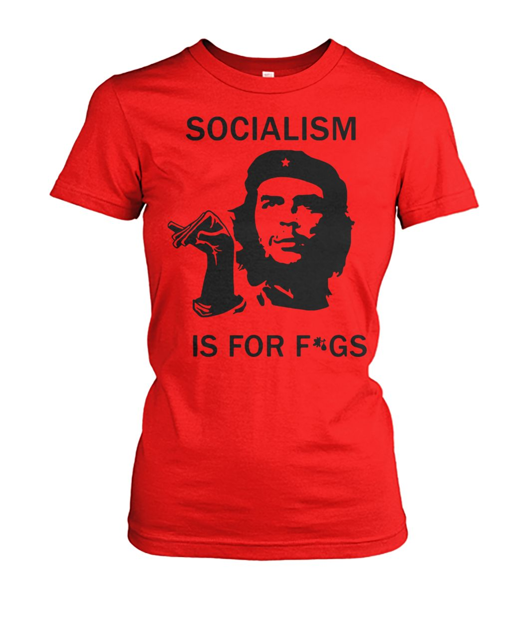 Che guevara socialism is for figs women's crew tee