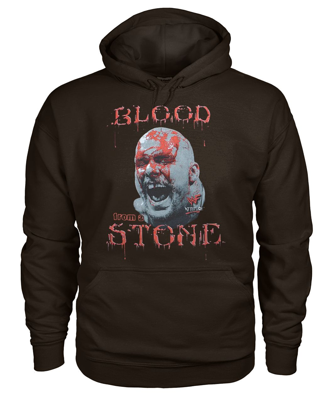 Cold steve austin bloody face blood from a stone gildan hoodie