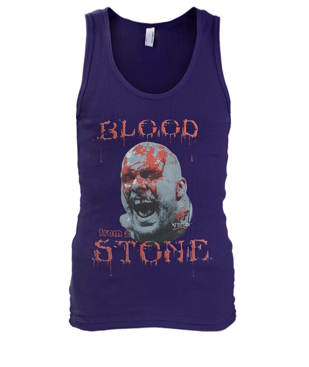Cold steve austin bloody face blood from a stone men's tank top