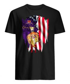 Crown royal inside american flag guy shirt