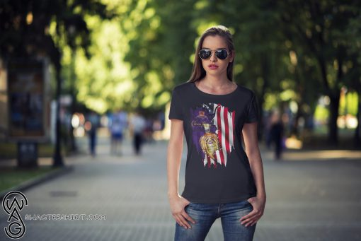 Crown royal inside american flag shirt