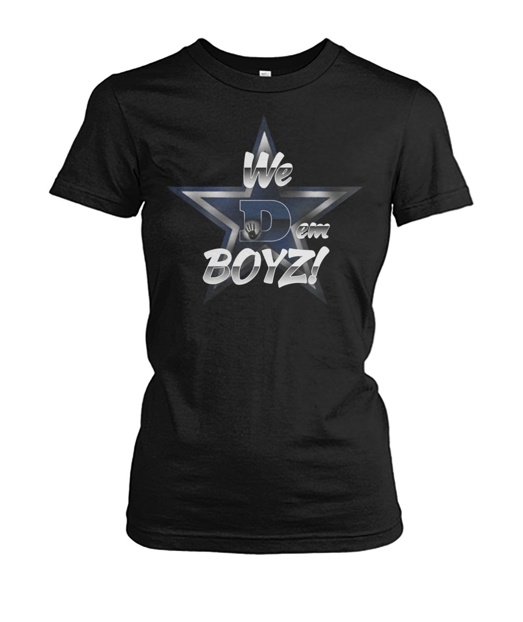 Dallas cowboys we dem boyz women's crew tee