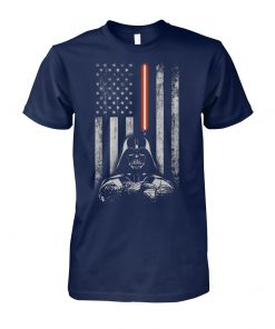 Darth vader american flag star wars unisex cotton tee